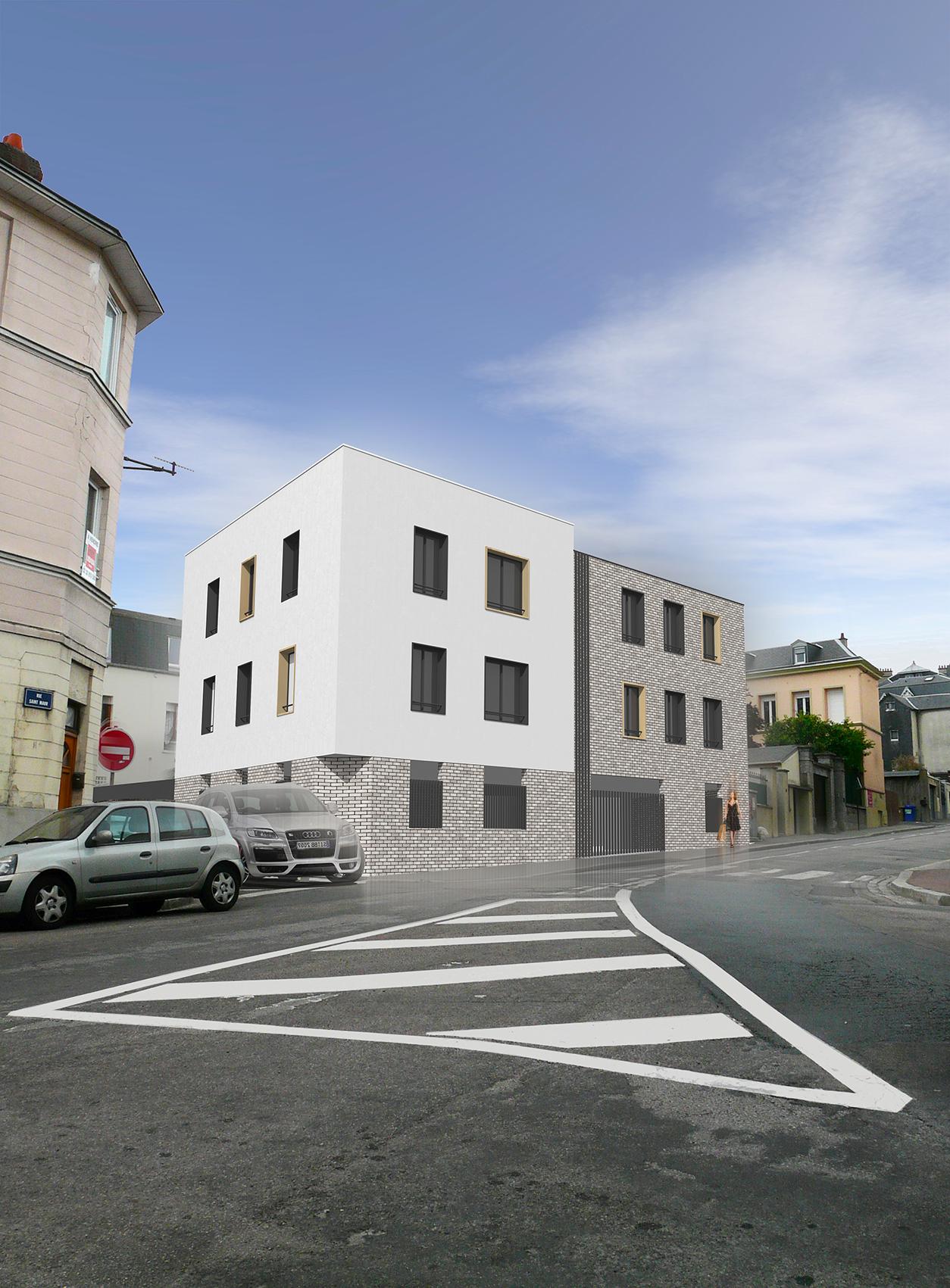 Ash architectes logements collectifs Rouen