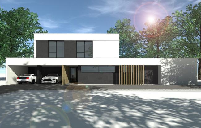 ash architectes maison individuelle Saint Martin du Vivier